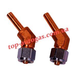 Фитинги для крепления термопластиковой трубки d8, 135*, FARO, стальн. гайка (пропан)
