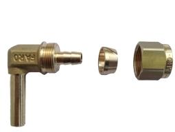 Фитинги для крепления термопластиковой трубки d8, 90*, FARO (пропан)