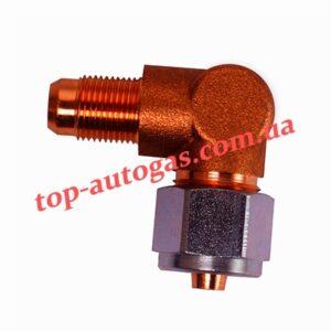 Переходник с трубки терм. d6/М10х1 на мультиклапан, редуктор, угловой (пропан)