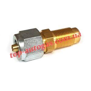 Переходник с трубки терм. d6/М12х1 на мультиклапан, редуктор, прямой (пропан)Gomet