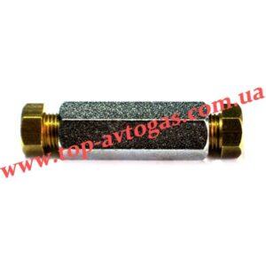 Соединитель трубки медь d6х6 (пропан)