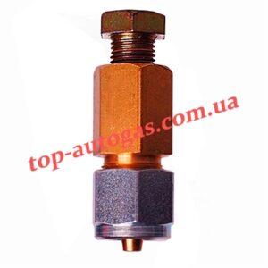 Соединитель трубки медь-термопластик d6х6 (пропан)