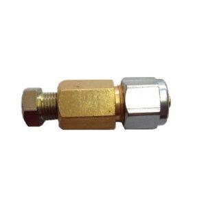 Соединитель трубки медь-термопластик d8х8 (пропан)