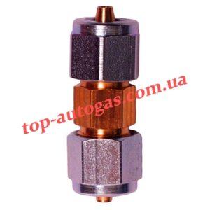 Соединитель трубки термопластик d6х6 (пропан)