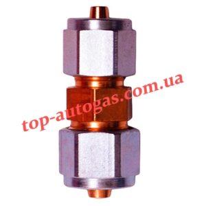 Соединитель трубки термопластик d6х8 (пропан)