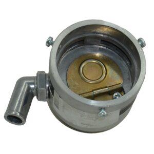 Смеситель-антихлопок, d62, с угловым металлическим подводом